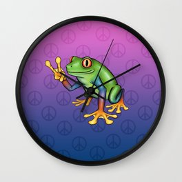Peace Frog Wall Clock