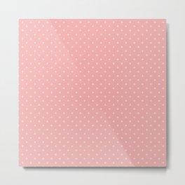 Classic Light Pink Polka Dot Spots on Blush Pink Metal Print