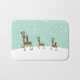 Christmas gifts from the reindeer #society6 #homedecor Bath Mat