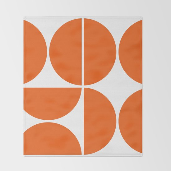 Mid Century Modern Orange Square by theoldartstudio