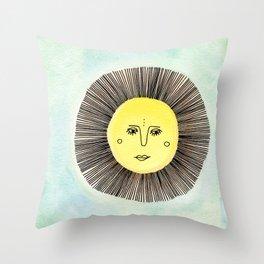 Celestial Solo Sun Throw Pillow