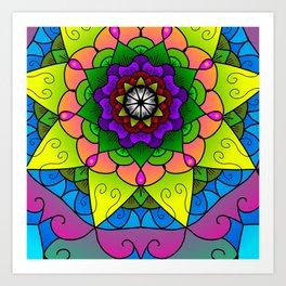 Cheerful mandala Art Print