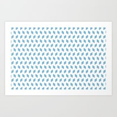 rhombus bomb in dusk blue Art Print