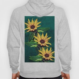 Watercolor sunflowers Hoody