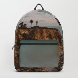 California Lighthouse Sunset Backpack
