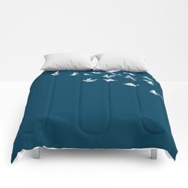 Flying Free (on Blue) Comforters