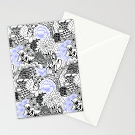 Periwinkle Peony Stationery Cards