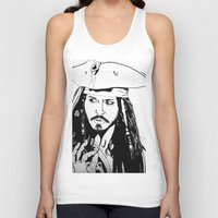 jack sparrow Tank Tops featuring Captain Jack Sparrow by Evanne Deatherage