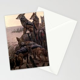 Vintage Jackals Painting (1909) Stationery Cards