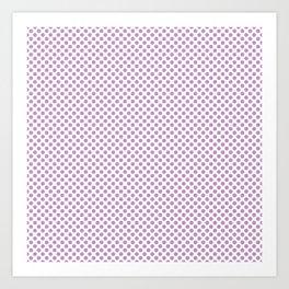 Violet Tulle Polka Dots Art Print
