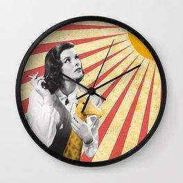 Katherine Hepburn Sun Wall Clock