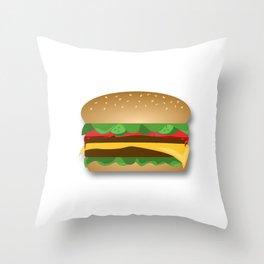 Yummy Cheeseburger Throw Pillow