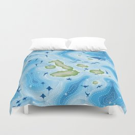 Enchanted Islands Duvet Cover