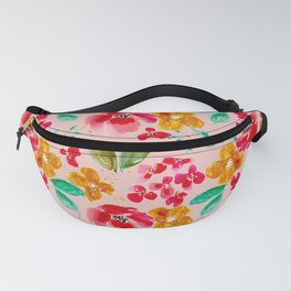Poppies and Petals on Pink Fanny Pack
