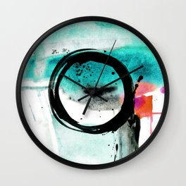 Enso Abstraction o. 113Q by Kathy Morton Stanion Wall Clock