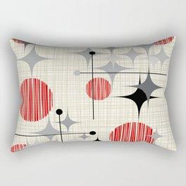 Mid Century Modern Starbursts and Globes 2a Rectangular Pillow