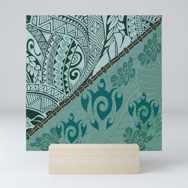 Hawaiian Tapa Cloth - Traditional Print Mini Art Print