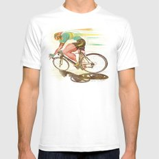 The Sprinter, Cycling Edition Mens Fitted Tee MEDIUM White