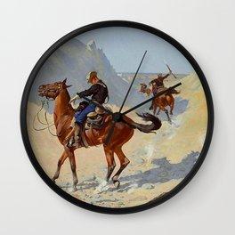 "Frederic Remington Western Art ""The Advance Guard"" Wall Clock"