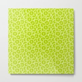 You're sub-lime! (Seamless lime pattern) Metal Print