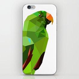 Eclectus parrot Geometric bird art iPhone Skin