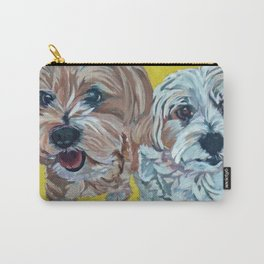 Ollie and Bailey Dog Portrait Carry-All Pouch