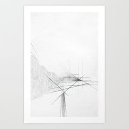 Pillar Forces Geometry Art Print