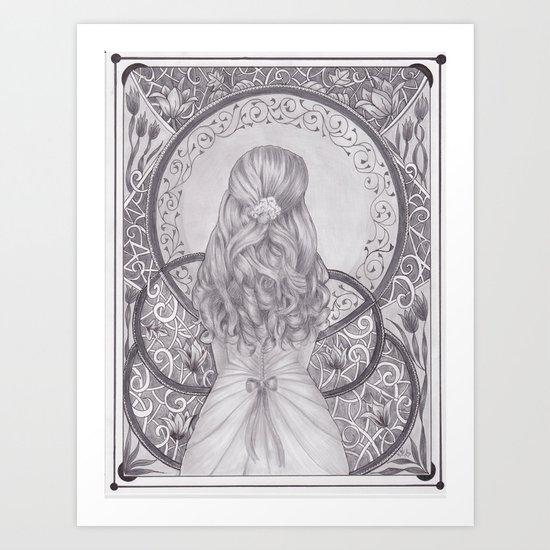 Art Nouveau Girl by katealli