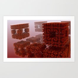 The strange attraction of particles making-out in hell Art Print