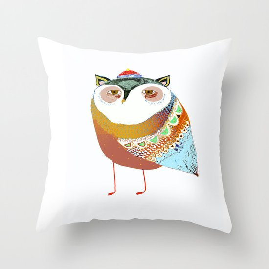 The Sweet Owl Throw Pillow