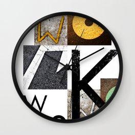 W O R K Wall Clock