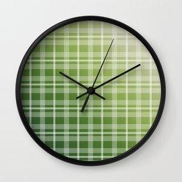 Olive Green Stripes Wall Clock