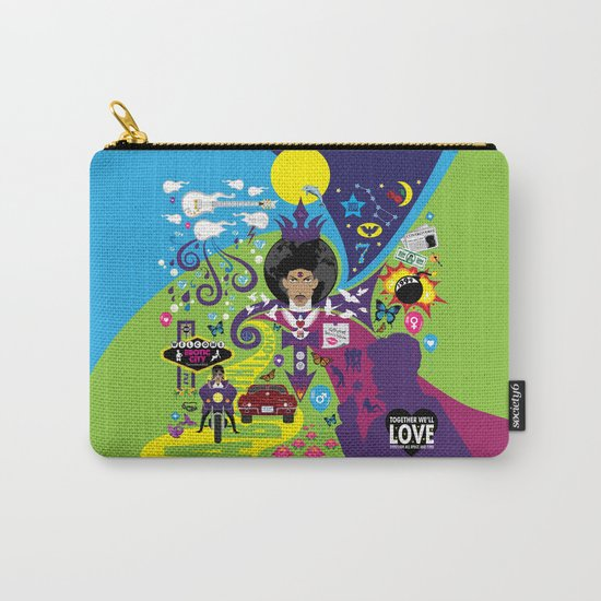 The Emoji-fication of His Purple Majesty: The Full Story Carry-All Pouch
