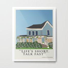 Life's short, talk fast! Metal Print