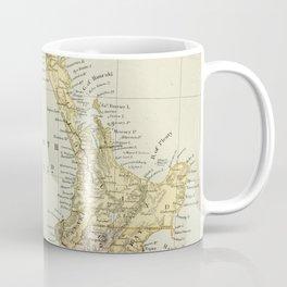 Vintage Map of New Zealand Coffee Mug