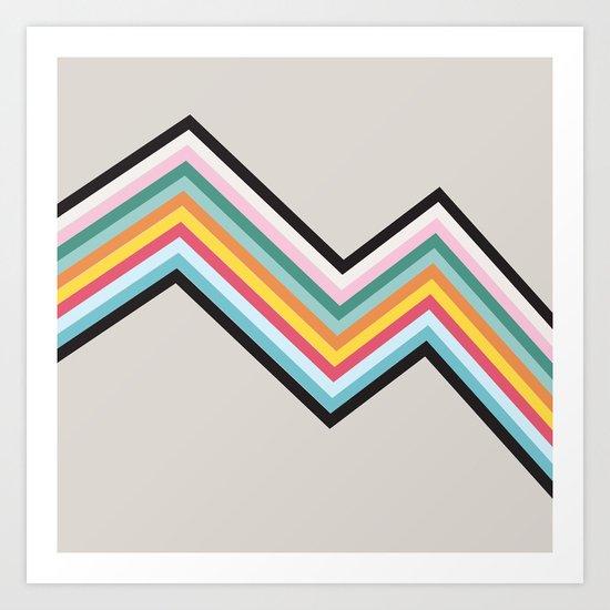 Retro Stripes Art Print