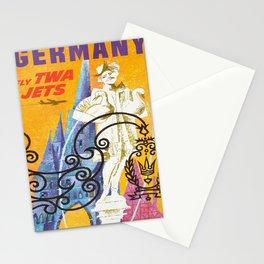 retro Germany retro poster Stationery Cards