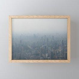 fade to gray (Shanghai) Framed Mini Art Print