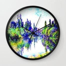 Claude Monet - Morning on the Seine, near Vetheuil 1878 Wall Clock