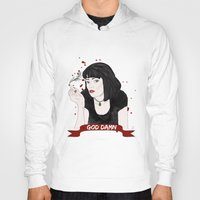 mia wallace Hoodies featuring Pulp Fiction's Mia Wallace by raeuberstochter