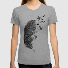 Fly Away Womens Fitted Tee MEDIUM Tri-Grey