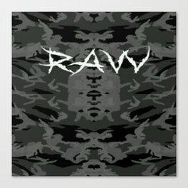 Raw ripped fatigue Canvas Print