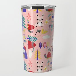 Tortoise and the Hare is one of Aesop Fables pink Travel Mug