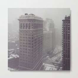 Flatiron Building Winter Metal Print