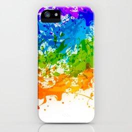 Colorful Splashes iPhone Case