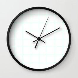 Graph Paper (Mint & White Pattern) Wall Clock