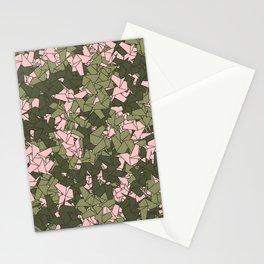 Origami Unicorn Camo PINK Stationery Cards