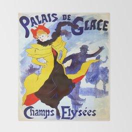 Vintage poster - Palais de Glace Throw Blanket