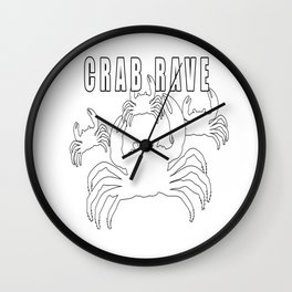 Crab Rave - Meme Wall Clock