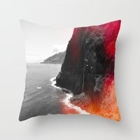 portugal Throw Pillows featuring Madeira Portugal  by Alex Marcano
